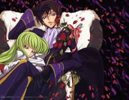 Not  Alone CC and Lelouch by SpiritOnParole