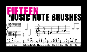 Music Note Brushes by englisharmy
