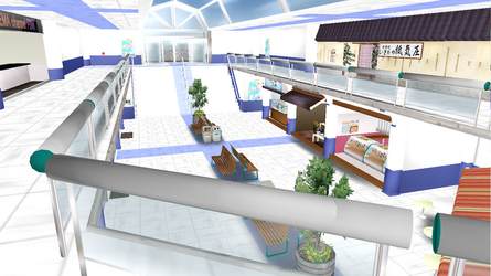 MMD Mall Stage fixed transparency by kaahgome