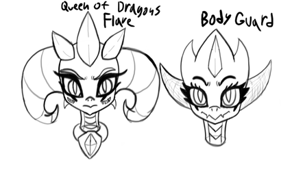 Dragon Queen and her Bodyguard by megaZer047