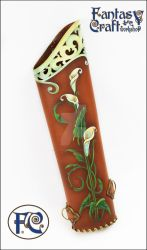 Leather quiver Calla Lilly