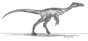 Ornitholestes hermanii by EmperorDinobot