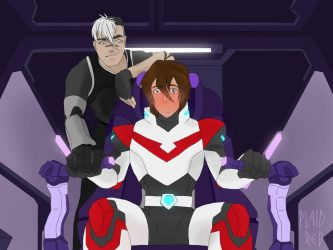 Shiro shows Keith the ropes by PlaidRed
