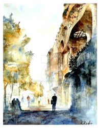 Barcelona watercolour