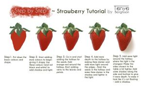 Step by Step - Strawberry Tutorial by RaggedVixen