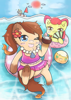 TPC2017 Mii and applebloom's summer[contest entry] by KinGKerO