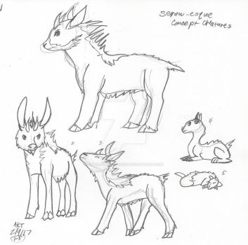 Serow Based Concepts by Paws-for-a-Moment