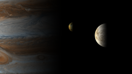 Europe and Io by postnuclearmorning