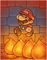 Paper Mario 64: Fire Bars by Louivi