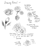Drawing Roses by onisuu