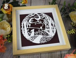 The Way Home - Original Paper Panda Papercut by PaperPandaCuts