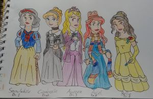 Dr Who Disney Princesses crossover by Bella-Who-1