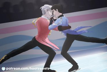 April Post Card - Yuri on Ice by Hootsweets