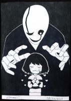 Inktober Day 8 - Undertale by Eremas-su