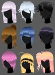 Amini101 characters hair styles part 1 by amini101