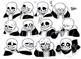 Sans the skeleton by tabe103