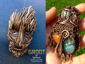 Guardians of The Galaxy - Groot pendant by DeeArtist321