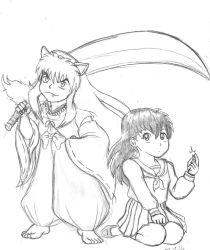 Inuyasha and Kagome by Rogue-Android