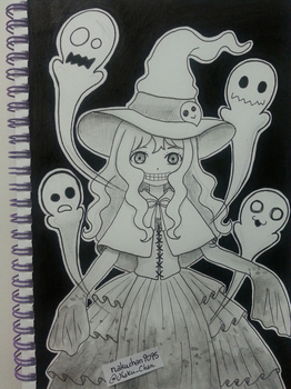 Inktober Day 30 - Ghost Witch by nakuchan9095