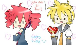 Teto and Len - Happy V-day by HeiwaNoUta