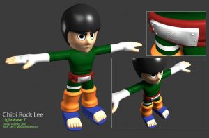Rock Lee 3D v2 by dtownley1