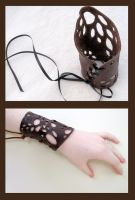 Leather Lace Cuffs by nolwen