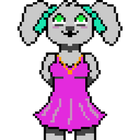 Aria Skyford as a pixel character. by PrincessToast420