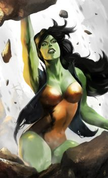 She-Hulk Rising by ellinsworth