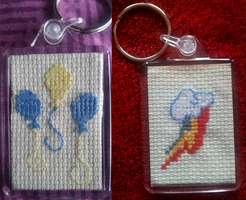 Rainbow Dash and Pinkie Pie keyrings (FOR SALE) by Arualsti