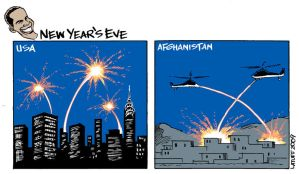 Obama New Year's Eve by Latuff2
