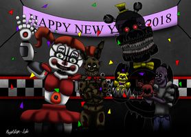 Happy New Year from the Afton Family by Playstation-Jedi