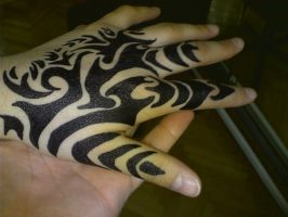 hand of tiger - tribal by alienspawn87