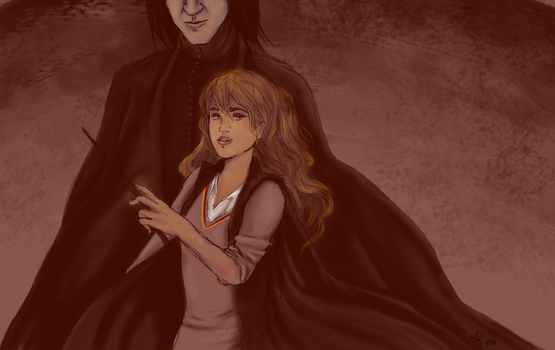 Hermione and Snape by nikea777