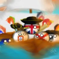 Let's go To America! -countryballs art- by DarknessTheGirl