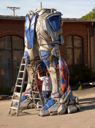 Transformer Project - Optimus Prime's legs by TheJugglingOctopus