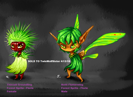 Forest Sprites - Thissali and Notti by TwinWolfSister