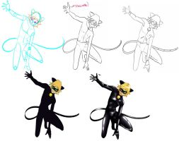 Chat noir by Gurvana