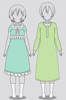 Kisekae Classic Nightgowns (w/ codes) by RainbowFan256