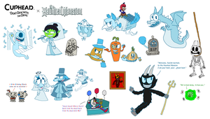 Cuphead x Haunted Mansion Crossover Drawing by PogorikiFan10