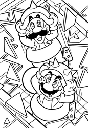 SMB the movie coloring book REMAKE 43 by FlintofMother3