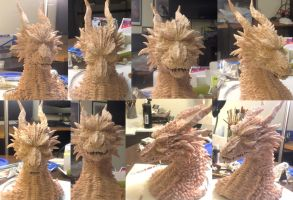DRAGON sculpture WIP 2 by chrisscalf