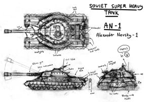 AN-1, Soviet Super Heavy Tank by Sanity-X