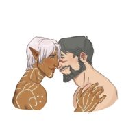 Fenris and Hawke by captainceranna