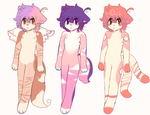 random anthro adopts OPEN by viixens