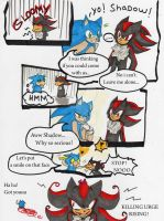 Sonic has solution for Shadow by YamiYumi