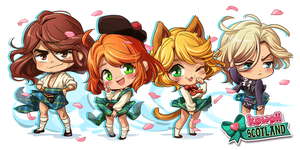 Kawaii Scotland chibis by DraNKa