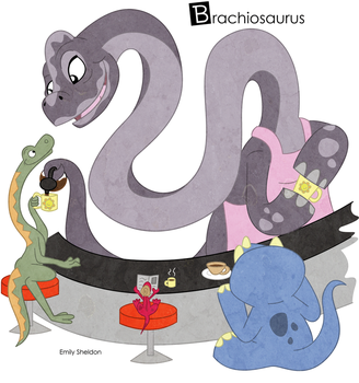 B is for Brachiosaurus: Color by ersheld