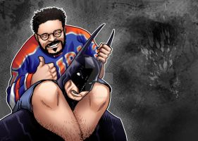 Fat Man on Batman by DavidFernandezArt