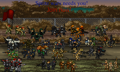 Sprite wars promotional image version 2. by Backtothefryingpan