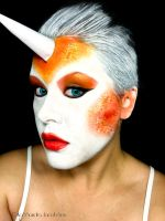 Goldeen Face Paint by j0wey